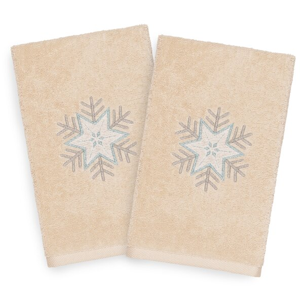 Beam Crystal Embroidered Luxury 100% Turkish Cotton Hand Towel (Set of 2) by The Holiday Aisle